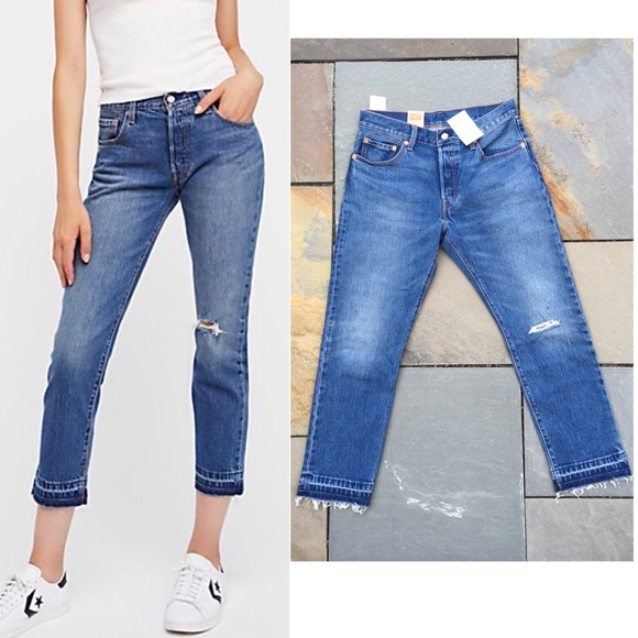1d832a1cd7e Levi's Jeans | Levis 501 Stretch Straight Fit Cropped 28 | Poshmark